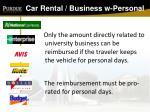 car rental business w personal