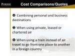 cost comparisons quotes128