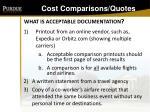 cost comparisons quotes129