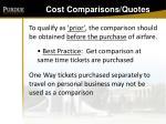 cost comparisons quotes130