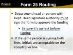 form 25 routing146