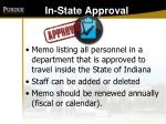 in state approval