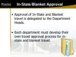in state blanket approval