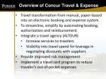 overview of concur travel expense
