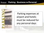 parking business w personal