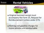 rental vehicles