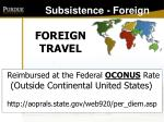 subsistence foreign