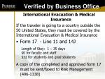 verified by business office