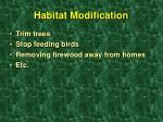 habitat modification