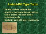 instant kill type traps