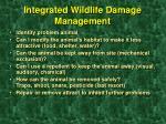 integrated wildlife damage management