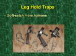 leg hold traps