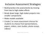 inclusive assessment strategies