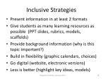 inclusive strategies