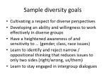 sample diversity goals
