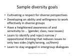 sample diversity goals11