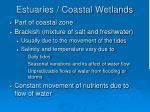 estuaries coastal wetlands