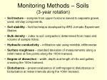 monitoring methods soils 3 year rotation
