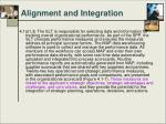 alignment and integration