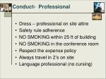 conduct professional