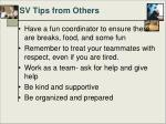 sv tips from others74