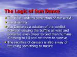 the logic of sun dance