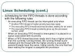 linux scheduling cont