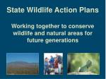 state wildlife action plans9