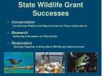state wildlife grant successes