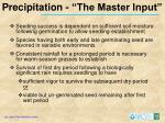 precipitation the master input
