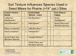 soil texture influences species used in seed mixes for prairie 14 ppt sites
