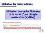 utilisation des tables f d rales32