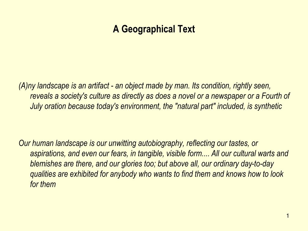 a geographical text l.