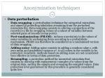 anonymization techniques14