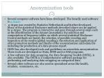 anonymization tools