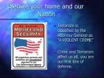 secure your home and our nation