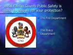 what fairfax county public safety is doing to prepare for your protection