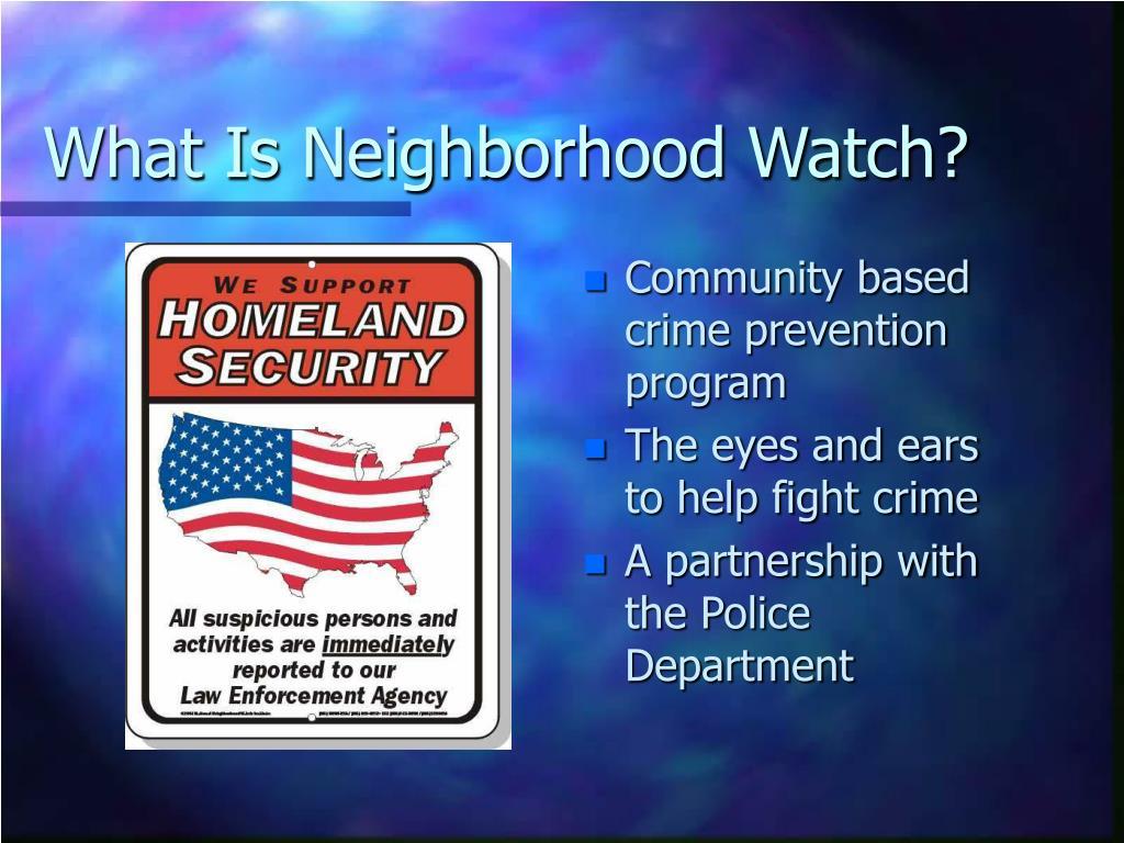 what is neighborhood watch rated