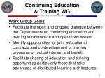 continuing education training wg