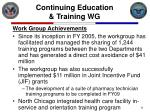 continuing education training wg9
