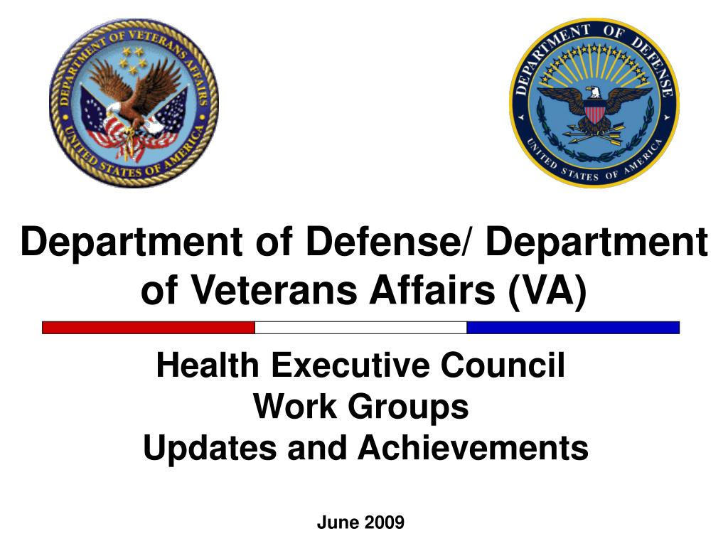 department of defense department of veterans affairs va l.