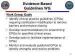 evidence based guidelines wg