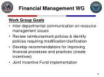 financial management wg