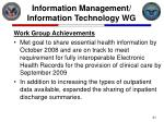information management information technology wg21
