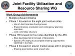 joint facility utilization and resource sharing wg7