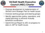 va dod health executive council hec charter