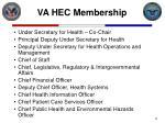 va hec membership