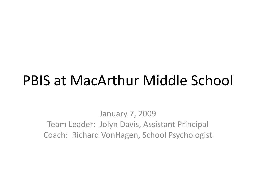 pbis at macarthur middle school l.