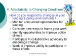 4 adaptability to changing conditions
