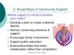 5 broad base of community support